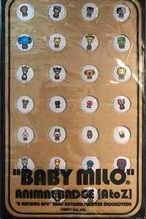 Baby Milo badges 動物襟章 (26個 A-Z)
