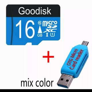 $15 - Memory card Micro SD card 16GB + Reader For Samsung Phone Galaxy Note 5, S7 Edge
