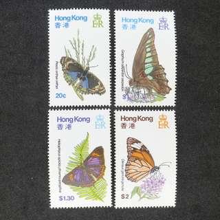 1979年香港蝴蝶主題郵票一套   (原膠,MNH)