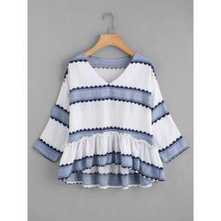Stripes Nonsleeves Top