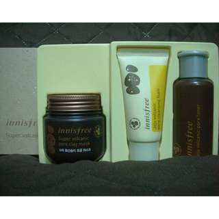 Innisfree Super volcanic pore clay mask set