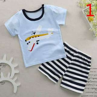 Baby Boy's Cute T-Shirt and Shorts Set