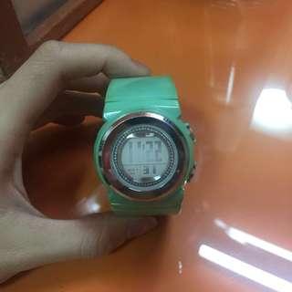 CASIO BABY-G GEMMY DIAL POP LOOK GREEN WATCH BGD-103-3 BGD103