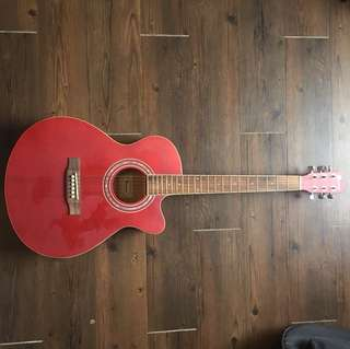 🚚 Bensons Acoustic Guitar with tuner and capo
