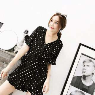Polka Deep Dress