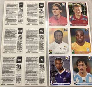 Panini FIFA 2010 Football player stickers clearance