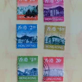 香港郵票1997年已銷郵票 6枚