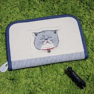 。error dot。日本財布貓咪鈴鐺萬用夾