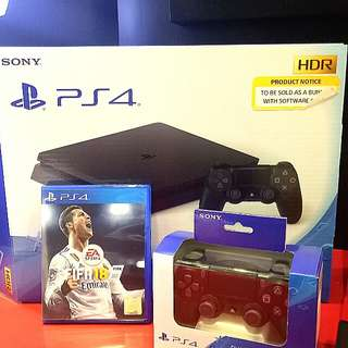 Kredit PS4 slim 500 Gb  FIFA18 Bundling Tanpa kartu kredit