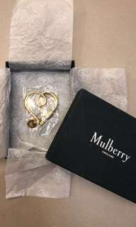 Mulberry Looped Heart Keyring