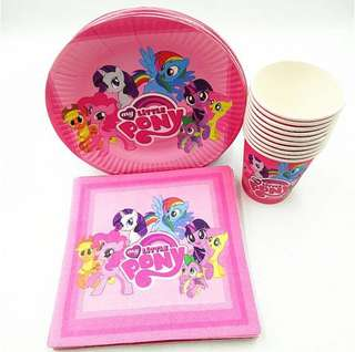 🌈 MLP My Little Pony party supplies - MP Plates Cups Napkins
