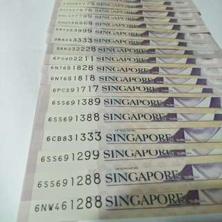 23pc of sg $2 notes 23pc x2=$46  all sale $$68