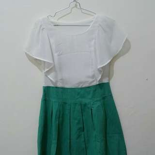 Dress green-white