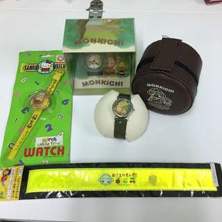 Sanrio monkichi om 馬騮仔 馬嬲 手錶