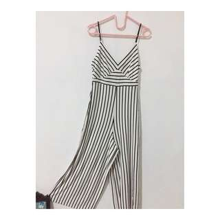 STRADIVARIUS OVERALL STRIPED
