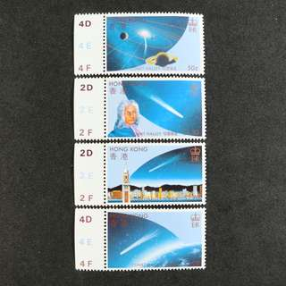 香港1986年哈雷彗星主題郵票一套  (原膠,MNH)