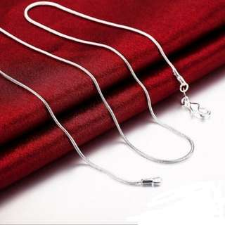"DIY 1mm 20"" Necklace Jewelry 925 Sterling Silver Snake Chain"