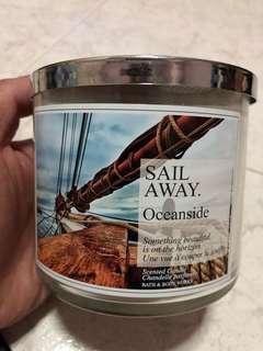 Bath & Body Work 3 wick Candle Sail away Oceanside