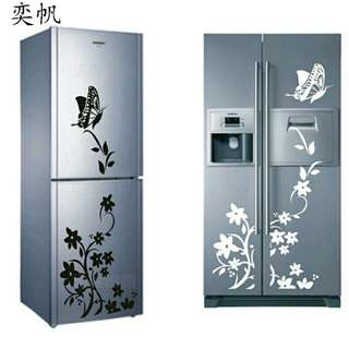 Creative wall + refrigerator sticker