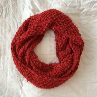 *Red/orange infinity scarf