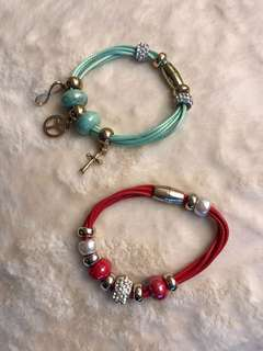 Red and green fashion bracelet - buy 2