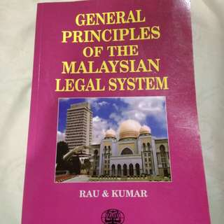 General Principles of The Malaysian Legal System (By Rau & Kumar)