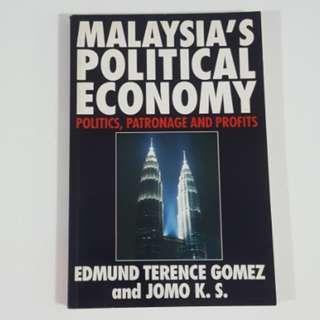 Malaysia's Political Economy: Politics, Patronage and Profits by Gomez & Jomo
