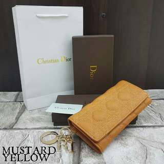 Lady Dior Panarea Purse Mustard Yellow