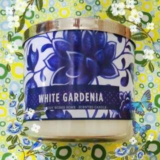 Bbw White Gardenia 3 Wick Scented Candle