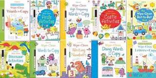 New usborne wipe clean books set of 10