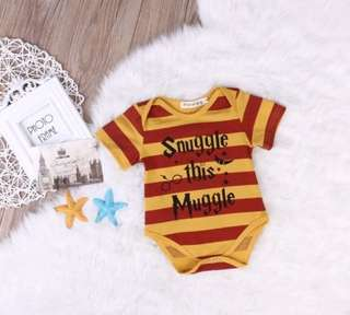 PO harry potter theme baby romper
