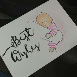 Customized baby shower card