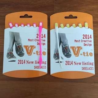 V-tie Shoelaces