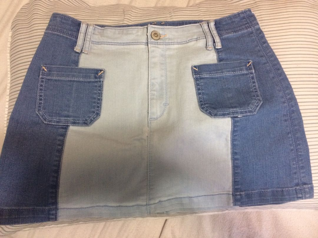 2 tone Denim skirt