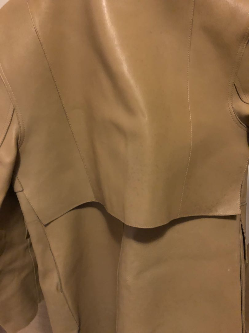 Alexander Wang full length leather jacket!! Super stylish and classic