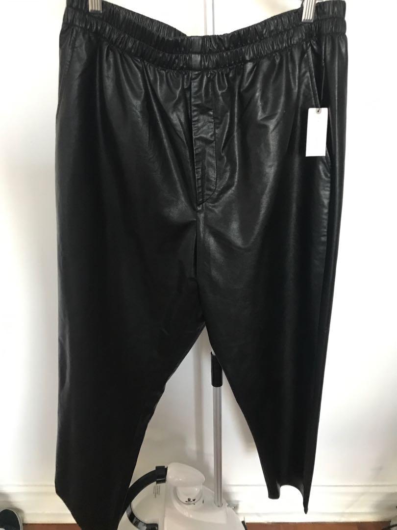 Anthropology Leather-like Pants - Size Large