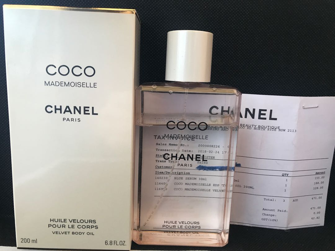 Authentic Chanel coco mademoiselle body oil 200 ml $128 used