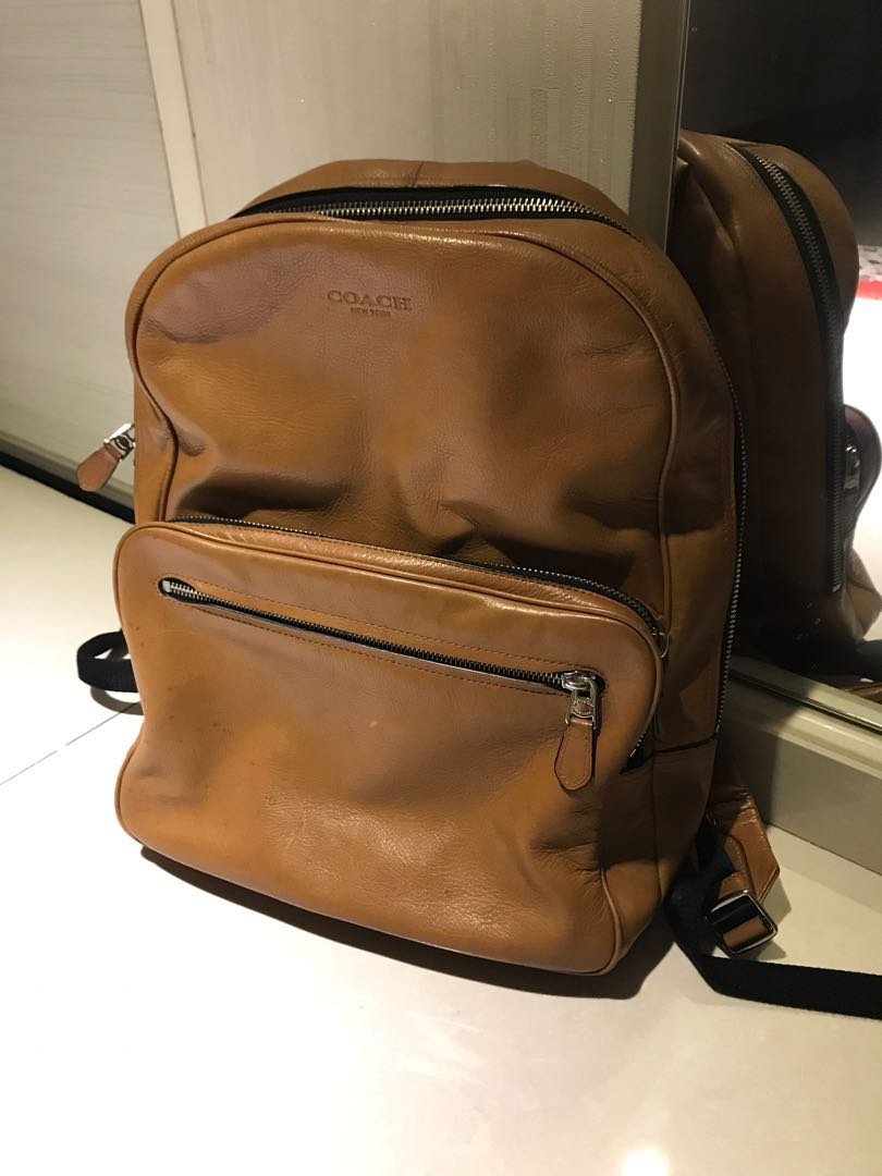 Authentic Leather Backpack- Fenix Toulouse Handball 4582b2731a88c