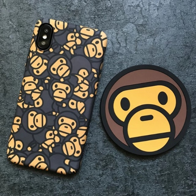 new product 5260b 5cdd5 Baby Milo iPhone X Case iPhone 8 7 6 Plus Case Funny Creative BAPE monkey  iPhone Case streetwear