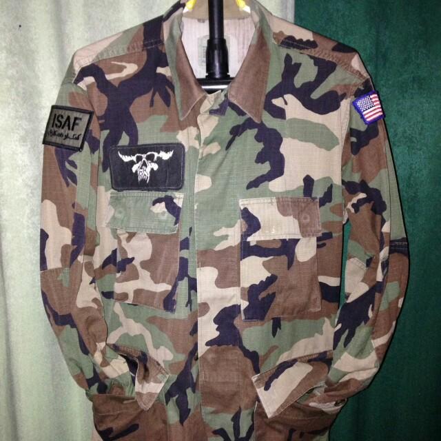 BDU woodland NATO camo OG shirt m65 parka full patch original, Men's