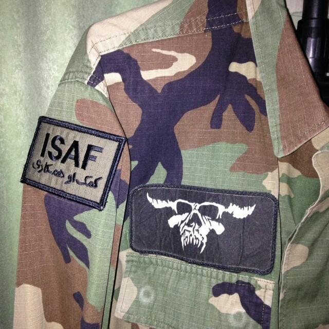 BDU woodland NATO camo OG shirt m65 parka full patch