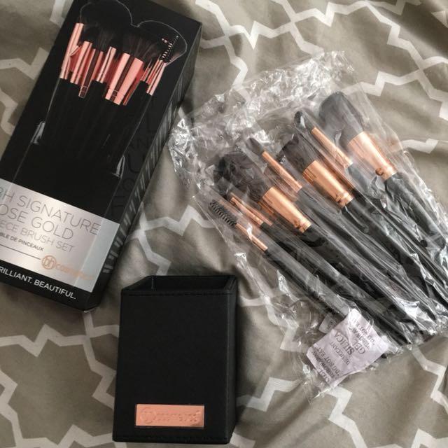 BH Cosmetics Signature Rose Gold brush set