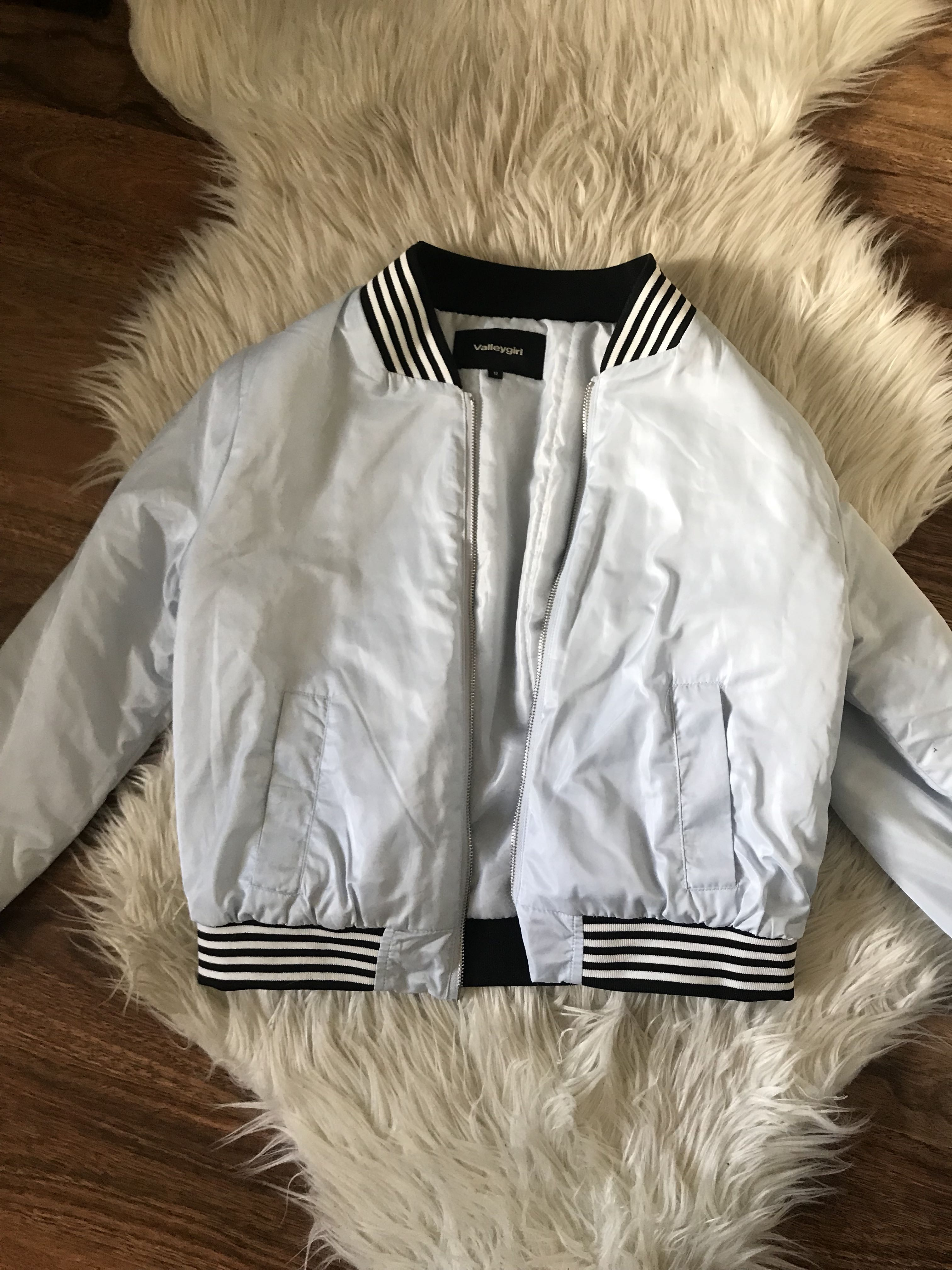 Cute baby Blue Valley girl boomer jacket