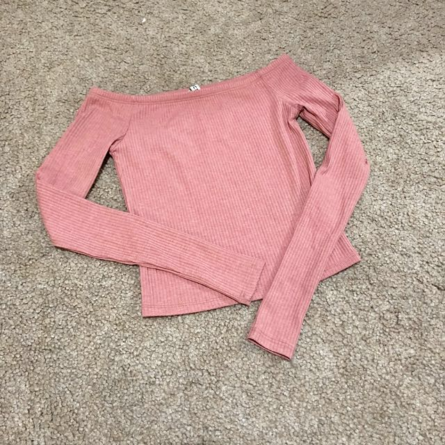 Dusty pink knitted crop