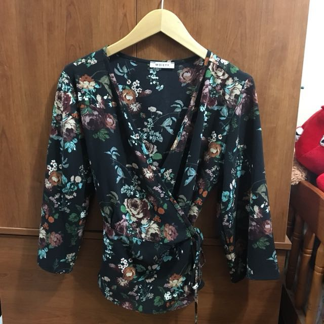 Floral Wrap Around Shirt