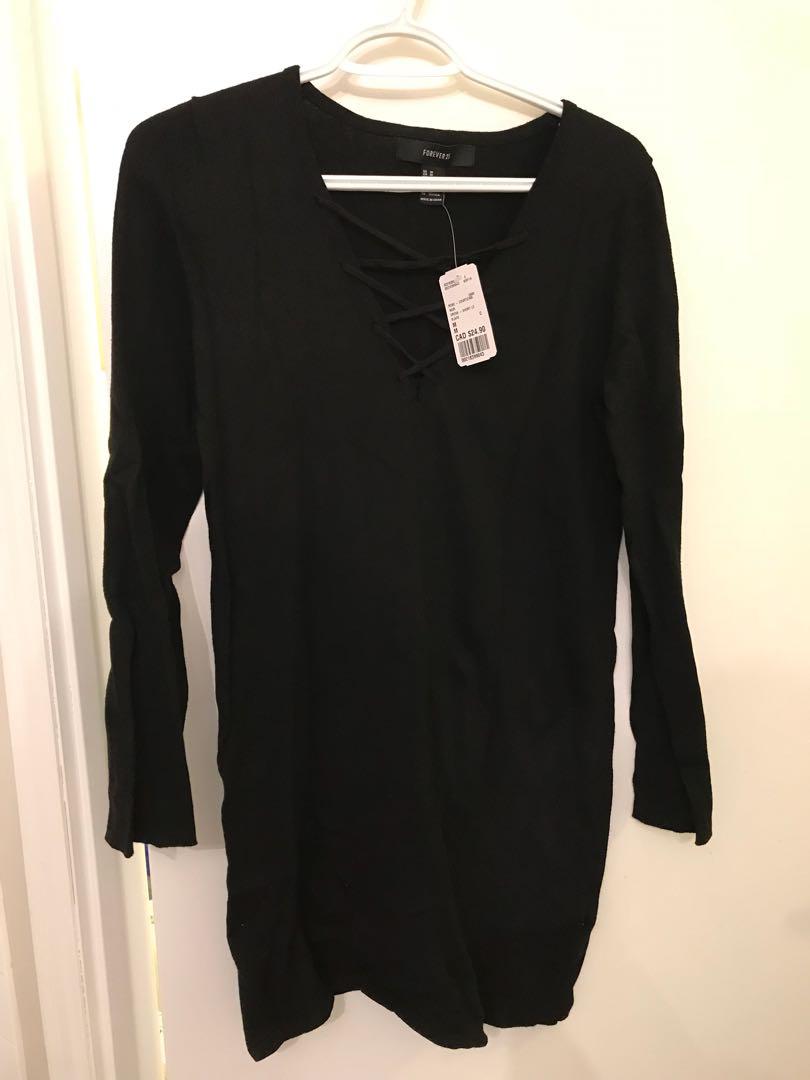Forever21 Black Dress - Size Medium