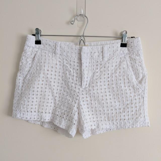 Gap White Textured Beach Shorts