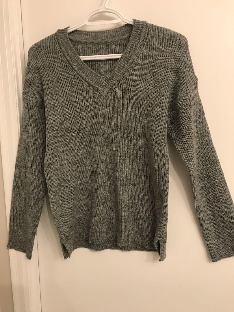 Grey Cardigan - Size Small