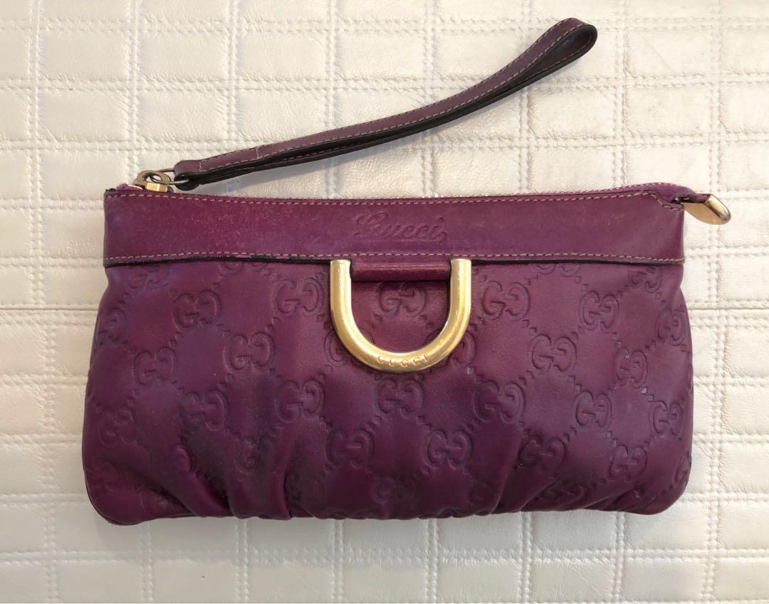 Gucci clutch purple