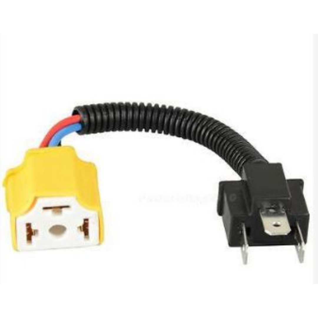H4 9003 Ceramic High Heat Resistant Wiring Harness Sockets Headlights H Wiring Harness on